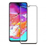 Eiger 3D Glass Edge to Edge Full Screen Tempered Glass for Samsung Galaxy A70 (black-clear)