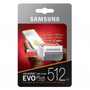 Samsung MicroSDXC 512GB EVO Plus UHS-I Memory Card U3, 4K Ultra HD Video 3