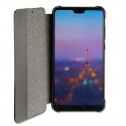 4smarts Smart Cover - текстилен смарт калъф за Huawei P20 Pro (тъмносив) 2