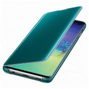 Samsung Clear View Cover EF-ZG975CG - оригинален кейс, през който виждате информация от дисплея за Samsung Galaxy S10 Plus (зелен) 3