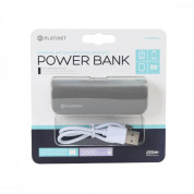 Platinet Power Bank Leather 2600mAh + microUSB cable (gray) 3
