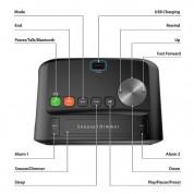 iLuv Morning Call 2 - безжичен Bluetooth спийкър с функции будилник, FM радио и LED дисплей за мобилни устройства (черен) 5