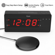 iLuv TimeShaker Wow Wired Bed-Shaker Alarm Clock 1