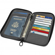 Incase Travel Passport Zip Wallet - елегантен кожен портфейл (тъмносив) 2