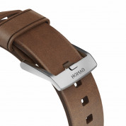 Nomad Strap Modern Leather Brown Connector Silver 42/44 mm  5