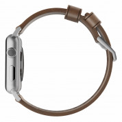 Nomad Strap Modern Leather Brown Connector Silver 42/44 mm  3