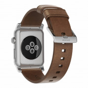 Nomad Strap Modern Leather Brown Connector Silver 42/44 mm  1