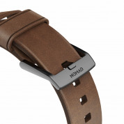 Nomad Strap Modern Leather Brown Connector Black 42/44 mm  5