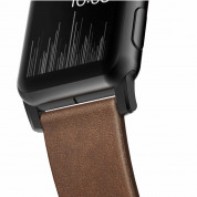 Nomad Strap Modern Leather Brown Connector Black 42/44 mm  4