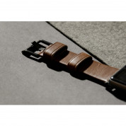 Nomad Strap Modern Leather Brown Connector Black 42/44 mm  8