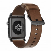 Nomad Strap Modern Leather Brown Connector Black 42/44 mm  1