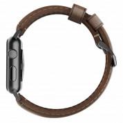 Nomad Strap Traditional Leather - кожена (естествена кожа) каишка за Apple Watch 42мм, 44мм (кафяв-черен) 3