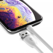 Satechi Flexible Lightning USB Cable - гъвкав USB кабел за iPhone, iPad и iPod с Lightning (бял) (25 см) 4