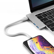 Satechi Flexible Lightning USB Cable - гъвкав USB кабел за iPhone, iPad и iPod с Lightning (бял) (25 см) 5