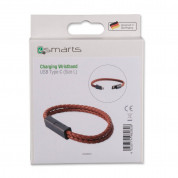 4smarts USB-C Charging Wristband for devices wtih USB-C standard (brown) (size L) 3