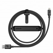 Nomad Battery Cable with 2800 mAh for devices with Lightning port (black) (150 cm)