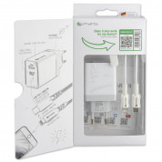 4smarts Wall Charger Set VoltPlug MFI 18W Plus 12W with USB-C Cable (white) 2