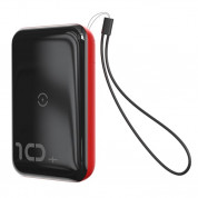 Baseus Mini S Bracket Power Bank 10W Wireless Charger 10000mAh (black-red)