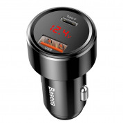 Baseus Dual USB & USB-C QC 4.0 Car Charger 45W (black) 1