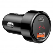 Baseus Dual USB & USB-C QC 4.0 Car Charger 45W (black) 2
