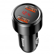 Baseus Dual USB QC 3.0 Car Charger 45W (black) 2