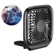 Baseus Foldable Vehicle Mounted Backseat Fan (black) 1