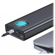 Baseus Ambilight Power Bank with Digital Display Quick Charge - 30000mAh, 33W - Type-C, 4xUSB (black)  2