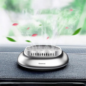 Baseus Little Volcano Vehicle-mounted Fragrance Holder 4PCS Solid Perfumes (silver) 6