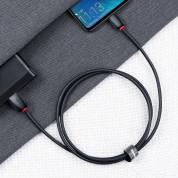 Baseus Purple Ring Quick Charge USB-C Cable - бърз USB-C кабел (5A) за устройства с USB-C порт (100 см) (черен) 4