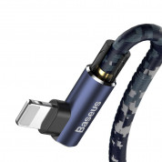 Baseus Camouflage Mobile Game Cable - Lightning USB кабел за iPhone, iPad и iPod с Lightning (100 см) (син) 2
