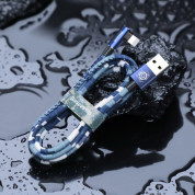 Baseus Camouflage Mobile Game Cable - Lightning USB кабел за iPhone, iPad и iPod с Lightning (100 см) (син) 4