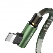Baseus Camouflage Mobile Game Cable - Lightning USB кабел за iPhone, iPad и iPod с Lightning (100 см) (зелен) 2