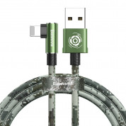 Baseus Camouflage Mobile Game Cable - Lightning USB кабел за iPhone, iPad и iPod с Lightning (100 см) (зелен) 1