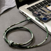 Baseus Camouflage Mobile Game Cable - Lightning USB кабел за iPhone, iPad и iPod с Lightning (100 см) (зелен) 6