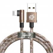 Baseus Camouflage Mobile Game Cable - Lightning USB кабел за iPhone, iPad и iPod с Lightning (100 см) (кафяв) 1