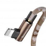 Baseus Camouflage Mobile Game Cable - Lightning USB кабел за iPhone, iPad и iPod с Lightning (100 см) (кафяв) 5