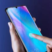 Baseus Full Screen Curved Soft Screen Protector Anti Bluelight - извито защитно покритие с черна рамка и защита за очите за целия дисплей на Huawei P30 Pro (два броя) 9