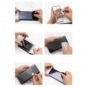Baseus Full Screen Curved Soft Screen Protector Anti Bluelight - извито защитно покритие с черна рамка и защита за очите за целия дисплей на Samsung Galaxy S10 (два броя) 7