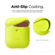 Elago Airpods Silicone Case - силиконов калъф за Apple Airpods 2 with Wireless Charging Case (жълт-фосфор) 4