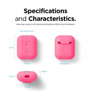 Elago Airpods Silicone Case - силиконов калъф за Apple Airpods 2 with Wireless Charging Case (розов-фосфор) 6