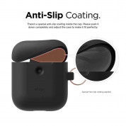 Elago Airpods Silicone Hang Case - силиконов калъф с карабинер за Apple Airpods 2 with Wireless Charging Case (черен) 3