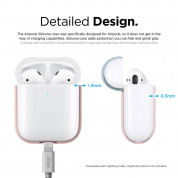 Elago Airpods Duo Silicone Case - силиконов калъф за Apple Airpods 2 with Wireless Charging Case (розов-бял) 5