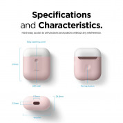 Elago Airpods Duo Silicone Case - силиконов калъф за Apple Airpods 2 with Wireless Charging Case (розов-бял) 6