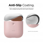 Elago Airpods Duo Silicone Case - силиконов калъф за Apple Airpods 2 with Wireless Charging Case (розов-бял) 3