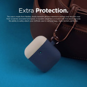 Elago Airpods Duo Hang Silicone Case - силиконов калъф за Apple Airpods 2 with Wireless Charging Case (тъмносин-бял) 4
