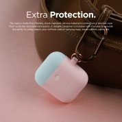 Elago Airpods Duo Hang Silicone Case - силиконов калъф за Apple Airpods 2 with Wireless Charging Case (розов-бял) 4