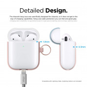 Elago Airpods Duo Hang Silicone Case - силиконов калъф за Apple Airpods 2 with Wireless Charging Case (розов-бял) 5