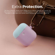 Elago Airpods Duo Hang Silicone Case - силиконов калъф за Apple Airpods 2 with Wireless Charging Case (лилав-светлосин) 4