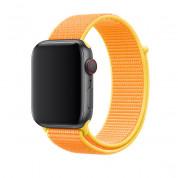 Apple Canary Yellow Sport Loop - оригинална текстилна каишка за Apple Watch 42мм, 44мм (жълт)