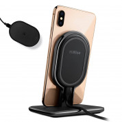 TwelveSouth HiRise Wireless 2-in-1 Desktop Charging Stand with removable travel charger (black)